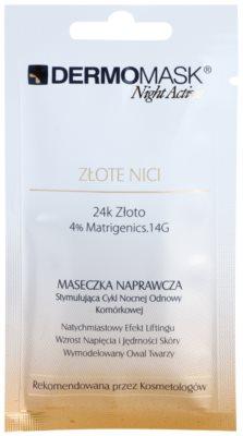 L'biotica DermoMask Night Active kisimító és feszesítő maszk 24 karátos arannyal