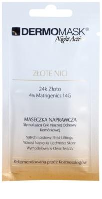 L'biotica DermoMask Night Active Lifting und festigende Maske mit 24 Karat Gold