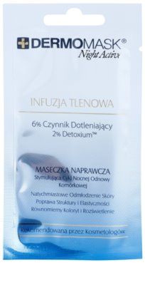 L'biotica DermoMask Night Active oksigenacijska maska