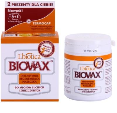 L'biotica Biovax Dry Hair máscara regeneradora e hidratante para cabelo seco a danificado 1