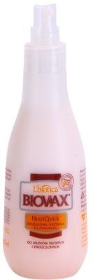 L'biotica Biovax Dry Hair kétfázisú hidratáló spray száraz és sérült hajra