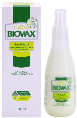 L'biotica Biovax Dull Hair 2-Phasen Feuchtigkeits Spray für fettiges Haar 1