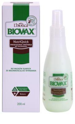 L'biotica Biovax Falling Hair двуфазен хидратиращ спрей за подсилване и блясък на косата 1