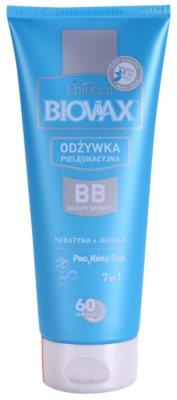 L'biotica Biovax Keratin & Silk balzam s keratinom za lažje česanje las