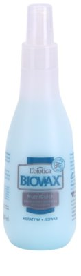 L'biotica Biovax Keratin & Silk dwufazowy spray nawilżający o działaniu wygładzającym