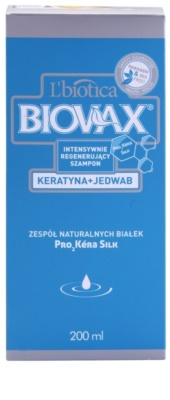 L'biotica Biovax Keratin & Silk sampon fortifiant cu complex de keratina 2
