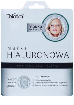 L'biotica Masks Hyaluronic Acid mascarilla hoja con efecto hidratante y alisante