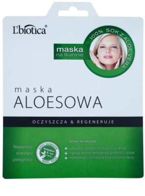 L'biotica Masks Aloe Vera máscara em folha com efeito regenerador