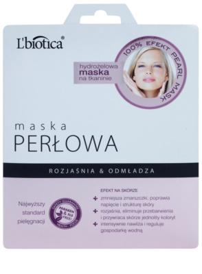 L'biotica Masks Pearl hidrogel maska iz platna s pomlajevalnim učinkom