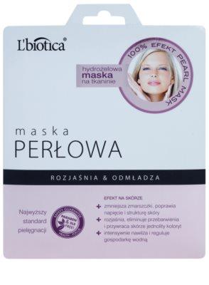 L'biotica Masks Pearl maska hydrożelowa platynowa o działaniu odmładzającym