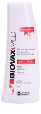 L'biotica Biovax Med champú estimulante  para el crecimiento y fortalecimiento del cabello desde las raíces