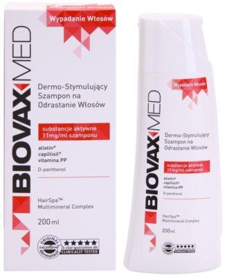 L'biotica Biovax Med champú estimulante  para el crecimiento y fortalecimiento del cabello desde las raíces 1