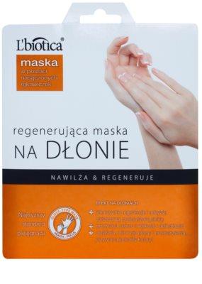 L'biotica Masks regeneračná maska na ruky vo forme rukavíc