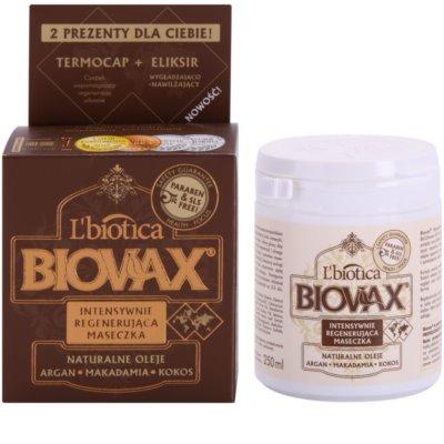 L'biotica Biovax Natural Oil Revitalisierende Maske für ein perfektes Aussehen der Haare 1