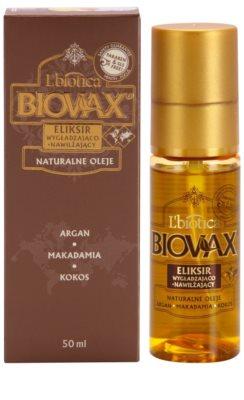 L'biotica Biovax Natural Oil хидратиращ и подхранващ серум  за блясък и мекота на косата 2