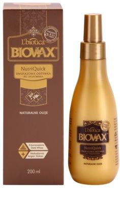L'biotica Biovax Natural Oil двофазний зволожуючий крем для сухого та ламкого волосся 1