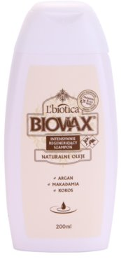 L'biotica Biovax Natural Oil regeneracijski šampon za hidracijo in sijaj