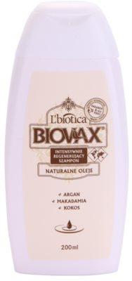 L'biotica Biovax Natural Oil regeneráló sampon a hidratálásért és a fényért