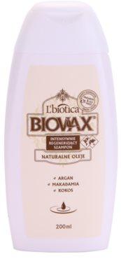 L'biotica Biovax Natural Oil sampon pentru regenerare pentru hidratare si stralucire