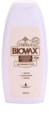 L'biotica Biovax Natural Oil відновлюючий шампунь для зволоження та блиску
