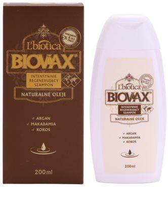 L'biotica Biovax Natural Oil regeneráló sampon a hidratálásért és a fényért 1