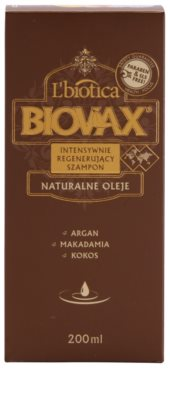 L'biotica Biovax Natural Oil regeneráló sampon a hidratálásért és a fényért 2