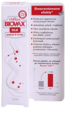 L'biotica Biovax Silk serum regenerujące do wzmocnienia włosów i nadania im większego połysku 2