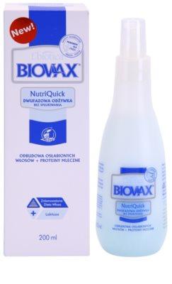 L'biotica Biovax Weak Hair двуфазен серум за изтощена коса 1