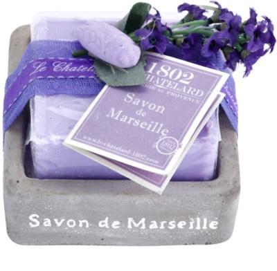 Le Chatelard 1802 Lavender from Provence francia luxus szappan szappantartóval