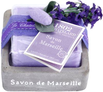 Le Chatelard 1802 Lavender from Provence luxuriöse französische Seife mit Seifenschale