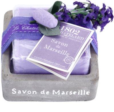 Le Chatelard 1802 Lavender from Provence розкішне французьке мило в мильниці