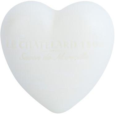 Le Chatelard 1802 Jasmine & Musk mydlo v tvare srdca