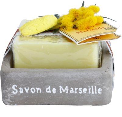 Le Chatelard 1802 Milk Vigne francuskie luksusowe mydło z mydelniczką