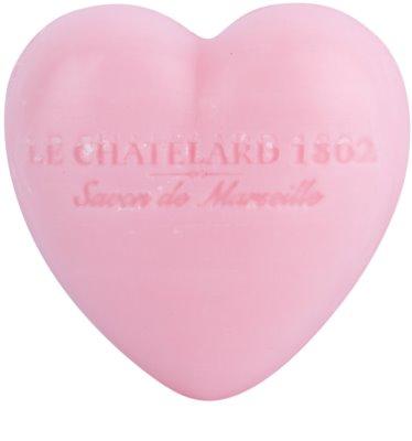 Le Chatelard 1802 Rose & Peony mydlo v tvare srdca