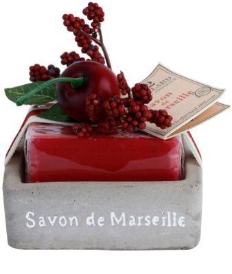 Le Chatelard 1802 Cherry francia luxus szappan szappantartóval