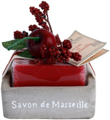 Le Chatelard 1802 Cherry luxuriöse französische Seife mit Seifenschale