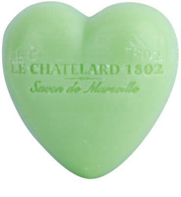 Le Chatelard 1802 Olive & Tilia Flowers mýdlo ve tvaru srdce