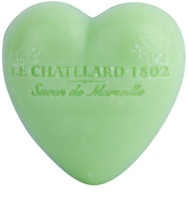 Le Chatelard 1802 Olive & Tilia Flowers sabonete em forma de coração