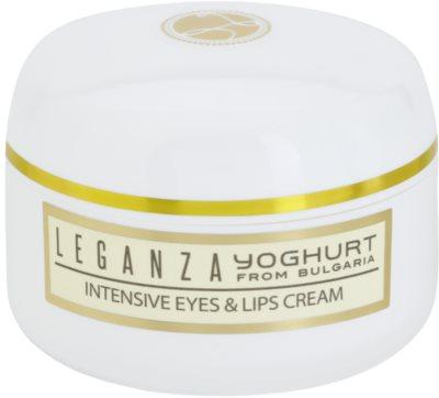 Leganza Yoghurt crema intensiva para contorno de ojos y labios