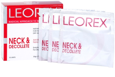 Leorex Booster Neck & Decollete máscara para pescoço e decote