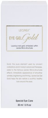 Leorex  Gold posvetlitveni gel za oči z zlatom 3