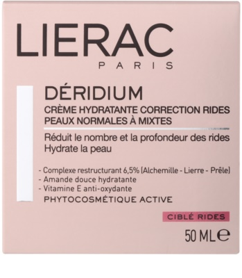 Lierac Deridium creme de dia e noite hidratante com efeito antirrugas para pele normal a mista 2