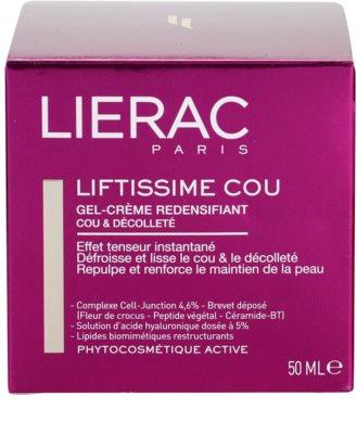 Lierac Liftissime żelowy krem przywracający gęstość skóry na szyję i dekolt 4
