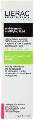 Lierac Prescription mattierendes Fluid für problematische Haut, Akne 3