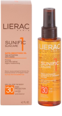 Lierac Sunific 1 олійка для засмаги SPF 30 2