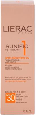 Lierac Sunific 1 олійка для засмаги SPF 30 4