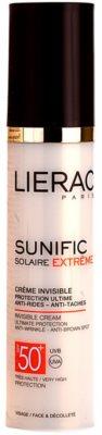 Lierac Sunific Extreme napozó krém a bőr öregedése ellen SPF 50+