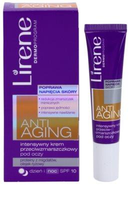 Lirene Anti-Aging creme antirrugas intensivo para os olhos SPF 10 1
