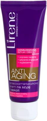 Lirene Anti-Aging krem przeciw zmarszczkom na szyję i dekolt
