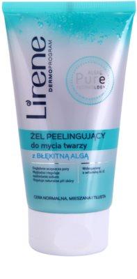 Lirene Algae Pure tisztító peelinges gél kisimító hatással